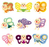 Cartoon butterfly icon Stock Image