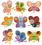 Cartoon butterfly set icon Stock Images