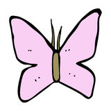 Cartoon butterfly symbol Royalty Free Stock Images