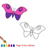 Cartoon butterfly  to be colored Stock Images