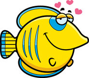 Cartoon Butterflyfish in Love Royalty Free Stock Photography