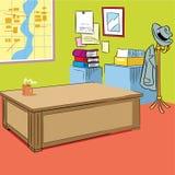 Cartoon cabinet interior Royalty Free Stock Image