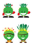 Cartoon cactus Stock Images