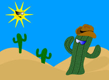 Cartoon Cactus Stock Photography