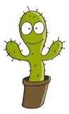 Cartoon cactus Stock Image