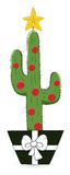 Cartoon Cactus - Christmas Vector Illustration Stock Photography