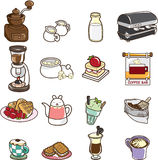 Cartoon cafe Royalty Free Stock Images