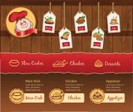 Cartoon Cafe Template Stock Image