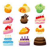 Cartoon cake. Cute cartoon cake,vector illustration stock illustration