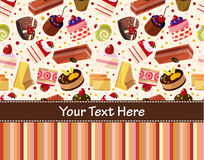Cartoon cake card Stock Photos