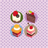 Cartoon cake card Royalty Free Stock Photography