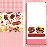 Cartoon cake card Stock Photography