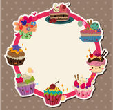 Cartoon cake card. Vector,illustration vector illustration