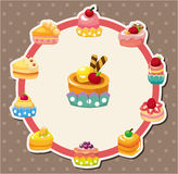 Cartoon cake card Stock Image
