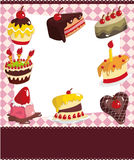 Cartoon cake card royalty free illustration