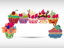 Cartoon cake card. Vector,illustration stock illustration