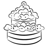 Cartoon cake. eps10 Stock Photography