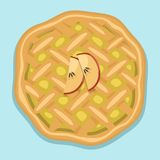 Cartoon cake fresh tasty dessert sweet pastry pie vector illustration gourmet homemade delicious Stock Photos