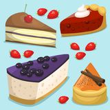 Cartoon cake fresh tasty dessert sweet pastry pie vector illustration gourmet homemade delicious Stock Photo