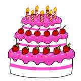 Cartoon cake hand drawing. Vector Stock Photography