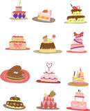 Cartoon cake icon. Vector drawing Stock Images