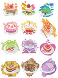 Cartoon cake icon Royalty Free Stock Images