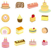 Cartoon Cake icon. Vector drawing Stock Image