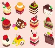 Cartoon Cake Icon Stock Photo