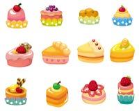 Cartoon cake icon. Drawing Stock Photo