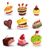 Cartoon cake icon Stock Photography