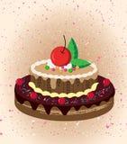 Cartoon cake. Illustration of an isolated cupcake royalty free illustration