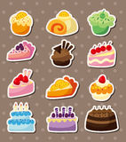 Cartoon cake stickers Royalty Free Stock Image