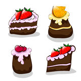 Cartoon cakes Stock Photography