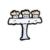 Cartoon cakes on cakestand Stock Photo