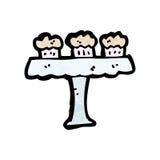 cartoon cakes on cakestand Stock Photo