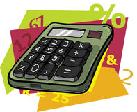 Cartoon calculator Stock Photos
