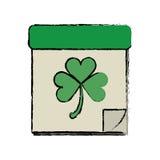Cartoon calendar clover st patrick day irish culture Royalty Free Stock Photos