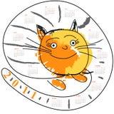 Cartoon Calendar For 2011 Royalty Free Stock Photography