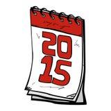 2015 Cartoon Calendar. An illustration of cartoon wall calendar stock illustration