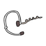 cartoon call center headset Stock Photo