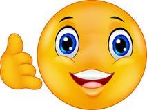 Cartoon Call me emoticon smiley Stock Image