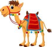 Cartoon camel with saddlery Royalty Free Stock Photography