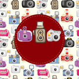 Cartoon camera card Royalty Free Stock Photography