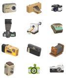 Cartoon camera icon Royalty Free Stock Photos