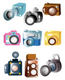Cartoon camera icon. Drawing Royalty Free Stock Images