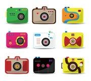 Cartoon camera icon set Royalty Free Stock Photo