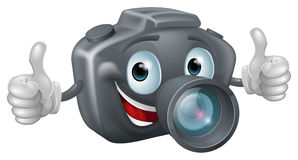 Cartoon camera mascot Stock Images