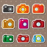 Cartoon camera stickers Royalty Free Stock Photography