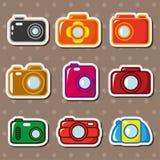 Cartoon camera stickers royalty free illustration