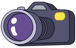 Cartoon camera Royalty Free Stock Images